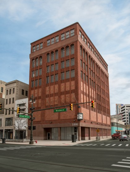 The building at 1400 Woodward, which is being transformed into the first Shinola Hotel (Credit: Bedrock)