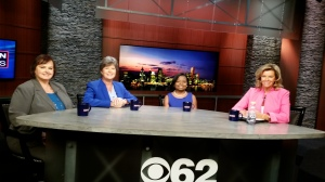 Michelle Richards, Kelly Rossman-McKinney, Felicia Harris and Carol Cain talk about impact of women in business and society. (credit: CBS 62/CW50 Mickie McLeod)