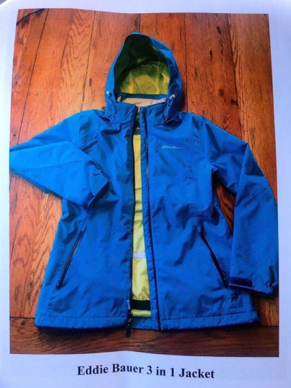 Danielle Stislicki's jacket. Note she was not wearing the inner lining. (Handout photos)