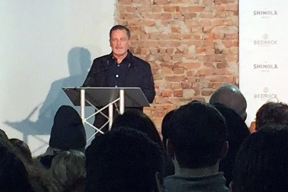 Dan Gilbert speaks at a Groundbreaking for the new Shinola Hotel. (credit: Laura Bonnell/WWJ)