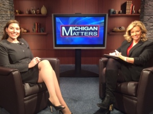 Lena Epstein, co-chair of Trump in Michigan campaign, with Carol Cain, talks about the Trump inaugural in Washington DC which she attended. (credit: Alexis Tesner/CBS 62)