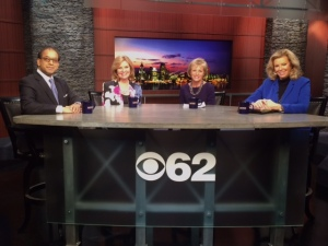 """(from left): Sandy Baruah, Beth Chappell and Carolyn Cassin join """"Michigan Matters"""" Senior Producer/Host Carol Cain to talk about the region. credit: Alexis Tesner/CBS 62)"""
