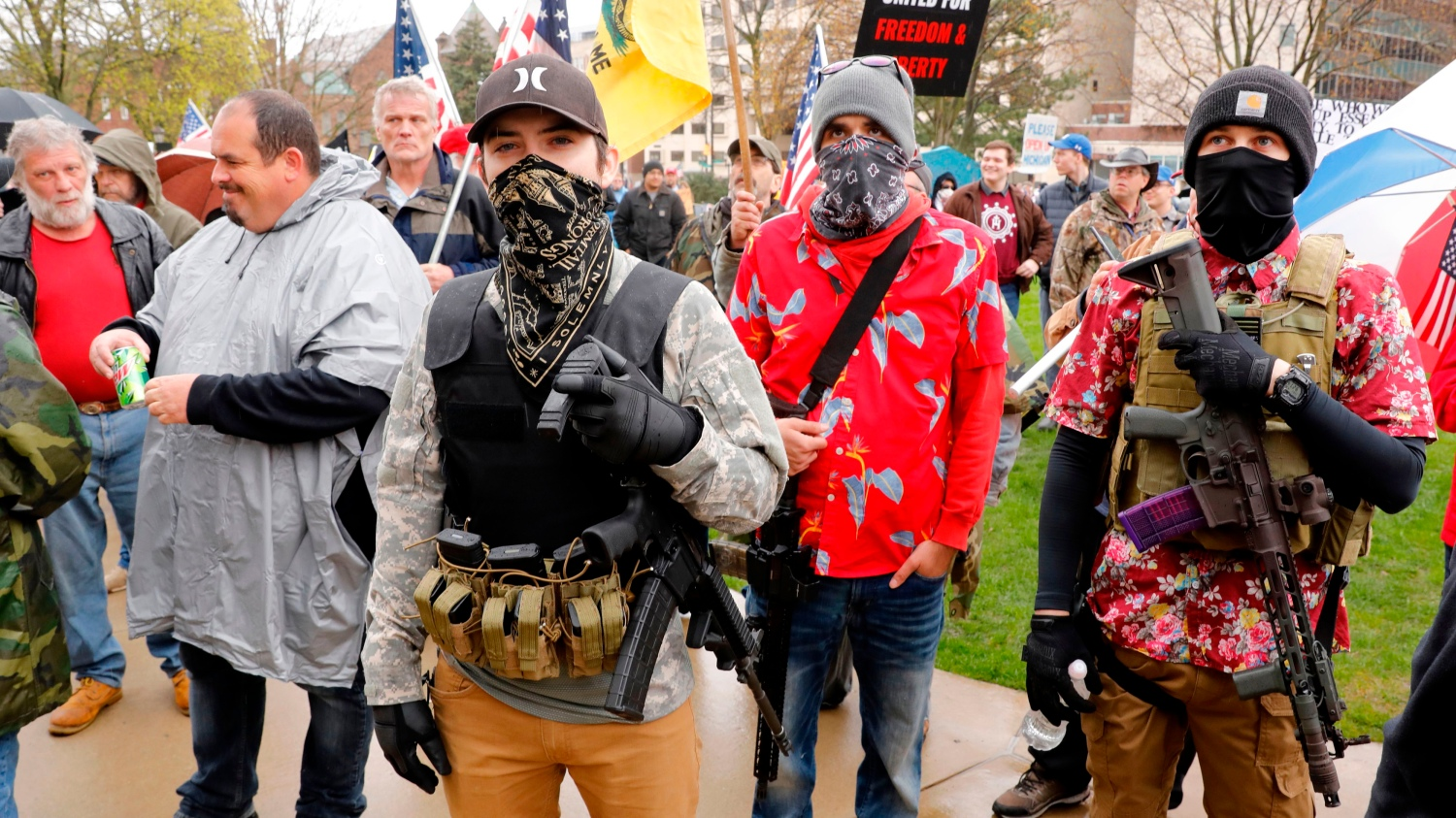 Protesters Took To The Michigan Capital Thursday Against ...