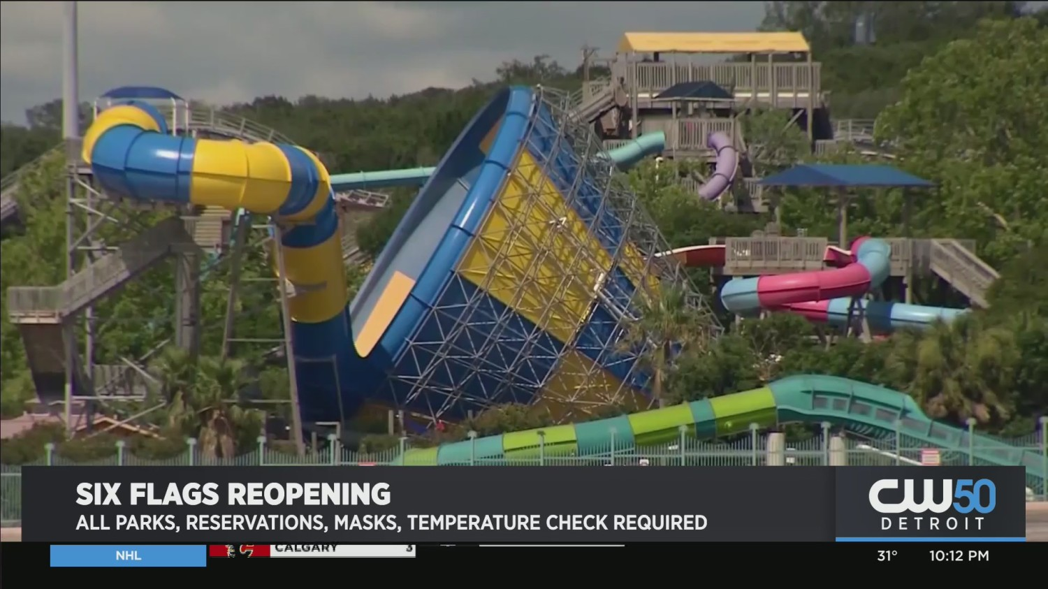 Six Flags Will Reopen All 26 Amusement Parks In 2021 Cbs Detroit