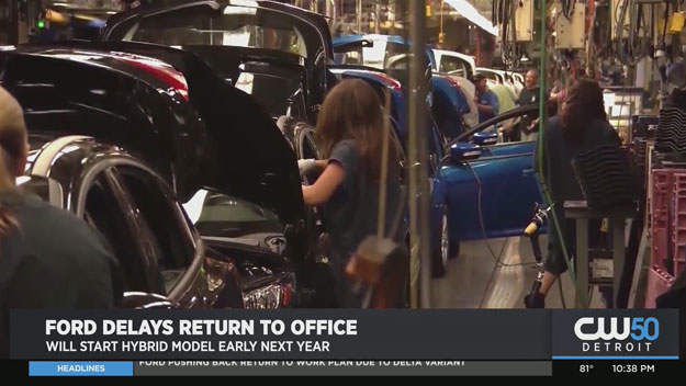 Ford Pushing Back Return To Work Plan Due To Delta Variant