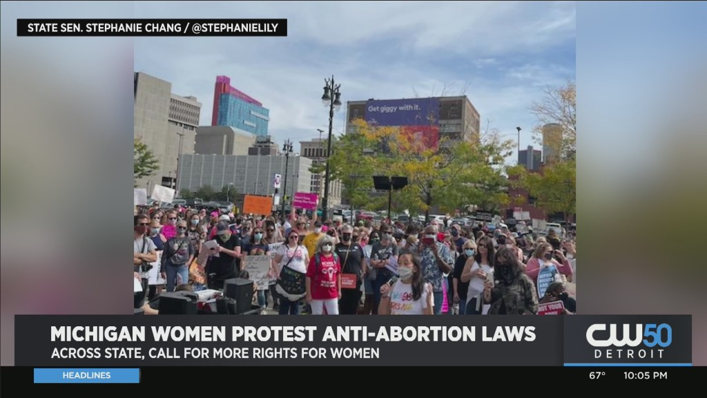 Protestors Across Michigan Rally Against Anti-Abortion Laws, Call For More Rights For Women