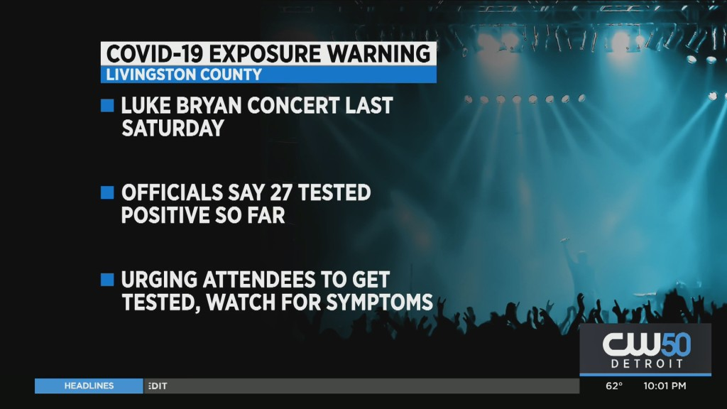 27 People Test Positive For COVID-19 After Attending Luke Bryan Concert In Livingston County